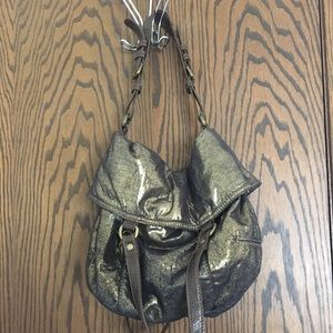 Convertible gold fabric purse - GAP